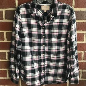 Banana Republic flannel shirt plaid M